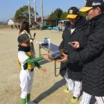 阪神・梅野選手と北條選手が野球教室!